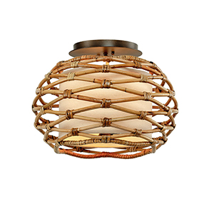 Balboa Bronze Three-Light Flush Mount