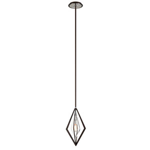 Javelin Bronze and Polished Stainless Steel One-Light Mini Pendant