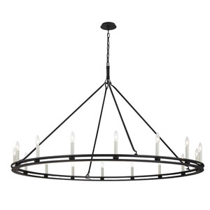 Sutton Textured Black 16-Light Chandelier
