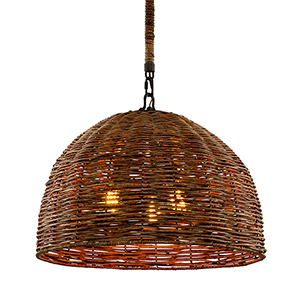 Huxley Tidepool Bronze Three-Light Pendant