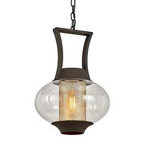 Horton Texture Bronze One-Light Pendant