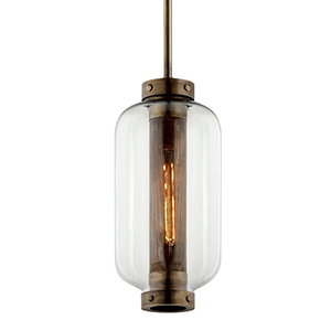 Atwater Vintage Brass One-Light Mini Pendant