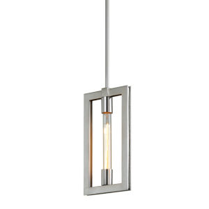 Enigma Silver One-Light Mini Pendant