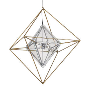 Epic Gold Eight-Light Chandelier