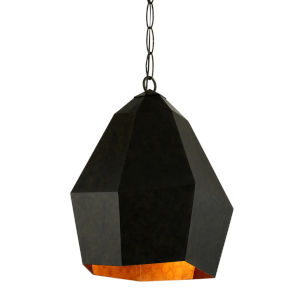Indigo Aged Bronze One-Light Pendant