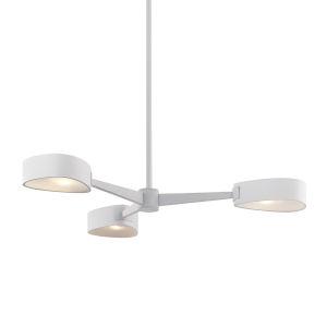 Allisio Textured White Three-Light Chandelier