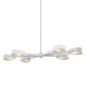 Allisio Textured White Six-Light Chandelier