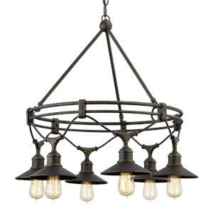 Shelton Vintage Bronze Six-Light Chandelier