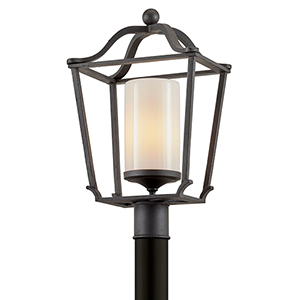 Princeton French Iron One-Light Post Mount