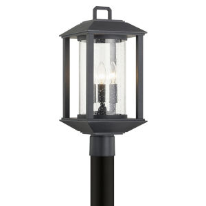 Mccarthy Weathered Graphite Three-Light Post Mount