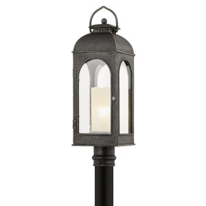 Derby Aged Pewter One-Light Post Mount