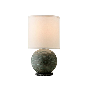 La Brea Limestone Table Lamp with Linen Shade
