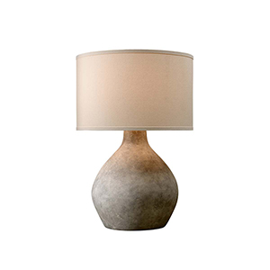 Zen Lava Table Lamp with Linen Shade