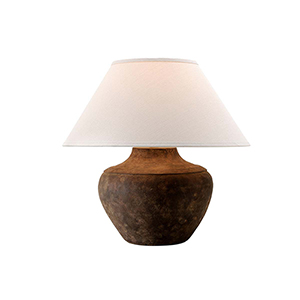 Calabria Sienna Table Lamp with Linen shade