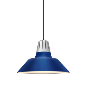 Heavy Metal Blue 18-Inch One-Light Pendant
