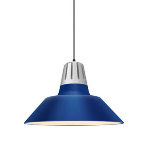 Heavy Metal Blue 20-Inch One-Light Pendant