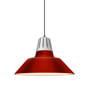Heavy Metal Red 20-Inch One-Light Pendant