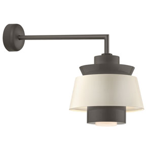 Aero Textured Bronze LED 14-Inch Outdoor Wall Sconce with 18-Inch Arm