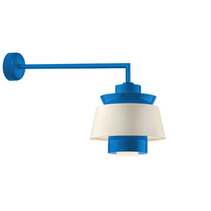 Aero Blue LED 16-Inch Outdoor Wall Sconce with 30-Inch Arm