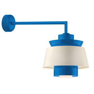 Aero Blue LED 16-Inch Outdoor Wall Sconce with 18-Inch Arm