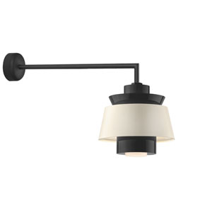 Aero Black LED 16-Inch Outdoor Wall Sconce with 30-Inch Arm