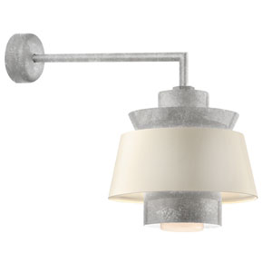 Aero Galvanized LED 16-Inch Outdoor Wall Sconce with 18-Inch Arm