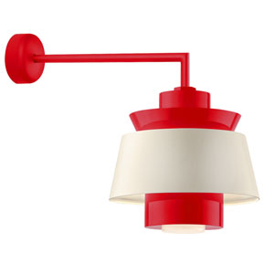 Aero Red LED 16-Inch Outdoor Wall Sconce with 18-Inch Arm