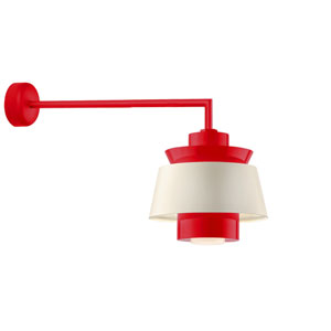 Aero Red LED 16-Inch Outdoor Wall Sconce with 30-Inch Arm