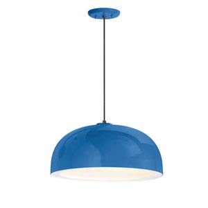 Dome Blue One-Light 14-Inch Outdoor Pendant