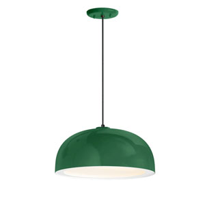 Dome Hunter Green One-Light 16-Inch Outdoor Pendant