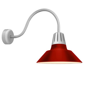 Heavy Metal Red 18-Inch One-Light Wall Mount