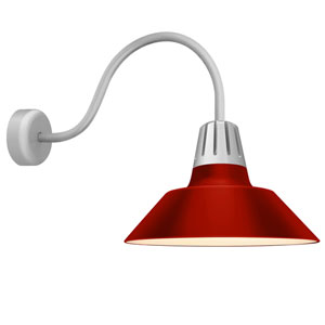 Heavy Metal Red 20-Inch One-Light Wall Mount