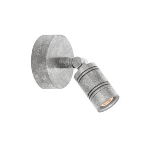 Bullet Head Galvanized LED Outdoor Monopoint Wall Sconce