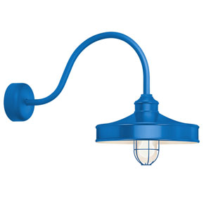 Nostalgia Blue One-Light 14-Inch Outdoor Wall Sconce with 23-Inch Arm