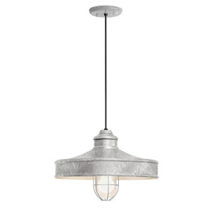 Nostalgia Galvanized One-Light 14-Inch Outdoor Pendant