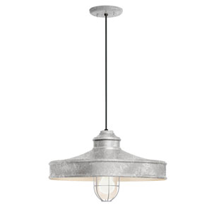 Nostalgia Galvanized One-Light 16-Inch Outdoor Pendant