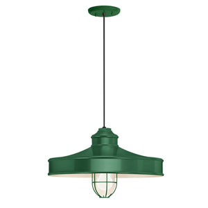 Nostalgia Hunter Green One-Light 16-Inch Outdoor Pendant