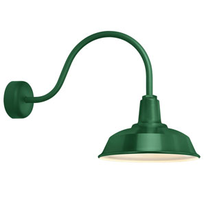 Heavy Duty Hunter Green One-Light 14-Inch Outdoor Wall Sconce with 23-Inch Arm