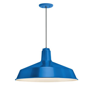 Standard Blue One-Light Outdoor Pendant