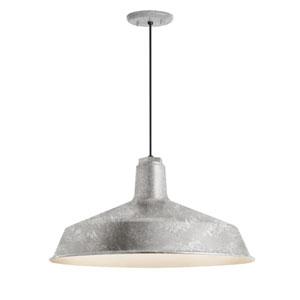 Standard Galvanized One-Light Outdoor Pendant