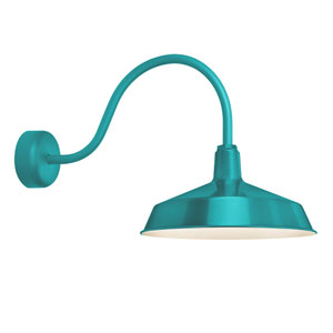 Standard Tahitian Teal One-Light Outdoor Wall Sconce 23-Inch Arm