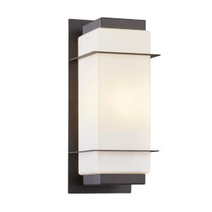 Hudson Aged Bronze Six-Inch One-Light Outdoor Wall Sconce