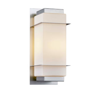 Hudson Brushed Nickel Six-Inch One-Light Outdoor Wall Sconce