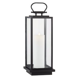 Stanton Black Nine-Inch LED Outdoor Floor Lantern