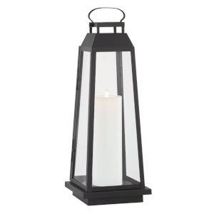 Edgewater Black Nine-Inch LED Outdoor Floor Lantern