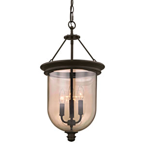 Concord Aged Bronze Three-Light Chandelier