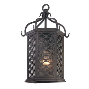 Los Olivos Old Iron One-Light Outdoor Pocket Wall Mount