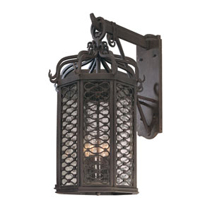Los Olivos Old Iron Four-Light Large Outdoor Wall Mount