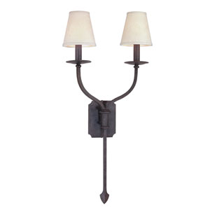 Sconces French Iron Two-Light Wall Sconce