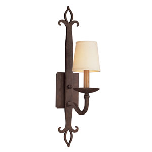 Lyon Burnt Sienna One-Light Wall Sconce with Hardback Linen Shade